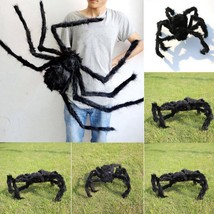 Big Black Spider Scary Toy Animal Horror Halloween Props Decoration Part... - $2.99+