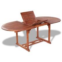 vidaXL Solid Acacia Wood Outdoor Dining Table Extendable Garden Furniture - $182.99
