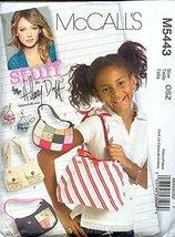 McCall's M5443 2007 HILLARY DUFF STUFF Bags and Purse - $7.84