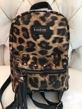 Authentic bebe Gina Leopard Mini Backpack. Beautiful & Hard To Find NEW - $59.99