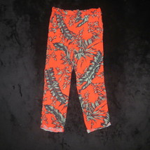 Gap Kids Orange Hawaiian Tropical Palm Drapey Pants Size L Large 10-11 140cm - $9.04
