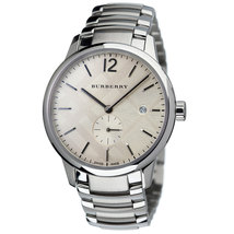 Burberry BU10004 The Classic Round Silver Dial Watch 40 mm - Warranty - $425.00