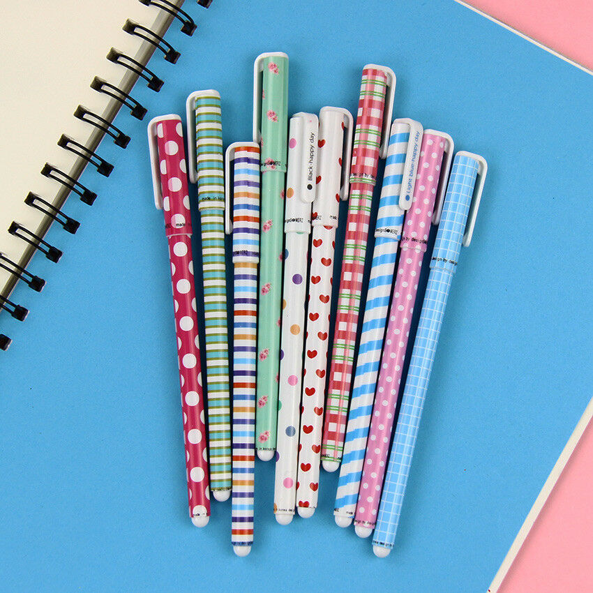 XUES® 10PCS/lot Color Gel Pen Kawaii Stationery Korean Flower Canetas Escolar