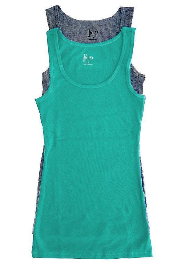 Felina Women's Fine Ribbed Knit Tank Tops (2-pack)