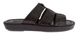 Brown Caiman Crocodile Leather Sandal Shoes - $1,045.00