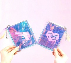 Lolita Style Clear Coin Purse Laser PVC Card Holder Lady Jelly Mini Pock... - $12.34