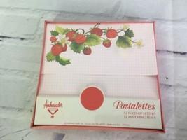 VTG Ambassador Hallmark Cards Postalettes 12 Fold Up Letters Seals Strawberry - $43.56