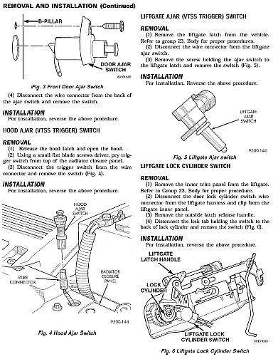 CHRYSLER VOYAGER & GRAND VOYAGER 1996 - 2000 FACTORY SERVICE REPAIR SHOP MANUAL image 5