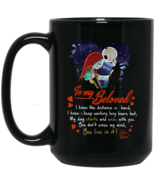 Jack and Sally To My Beloved BM15OZ 15 oz. Black Mug - $18.00