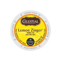 Celestial Seasonings Lemon Zinger Tea, 24 count Keurig K cups, FREE SHIP... - $18.99