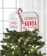 Mailbox Letters to Santa Christmas Tree Topper Holiday Home Decor - $11.74