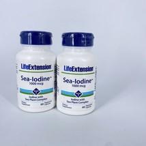2 Life Extension Sea-Iodine Vitamins 1000 mcg 60 Vegetarian Capsules Exp 03/2021 - $19.74