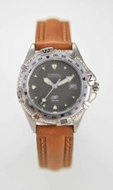 Fossil Watch Womens Stainless Silver Steel Brown Leather 50m Gray Date Q... - $35.13