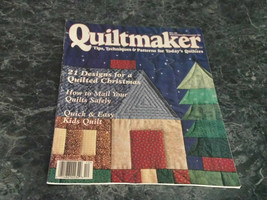 Quiltmaker Magazine Tips Techniques Patterns November DEcember 1995 No 46 Kid St - $2.99