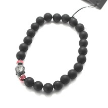 SILVER 925 BRACELET WITH HEMATITE AND ONYX BPR-4 MADE IN ITALY BY MASCHIA image 1