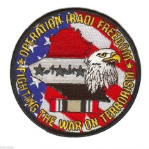 """Operation Iraqi Freedom Ribbon 4"""" Military Embroidered Oif Patch Flag Eagle - $23.74"""