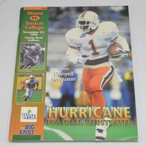 Hurricane Football Illustrated UM University Miami vs Boston College 19... - $8.88