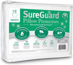 Set of 2 Queen Size SureGuard Pillow Protectors - 100% Waterproof, Bed B... - $53.40