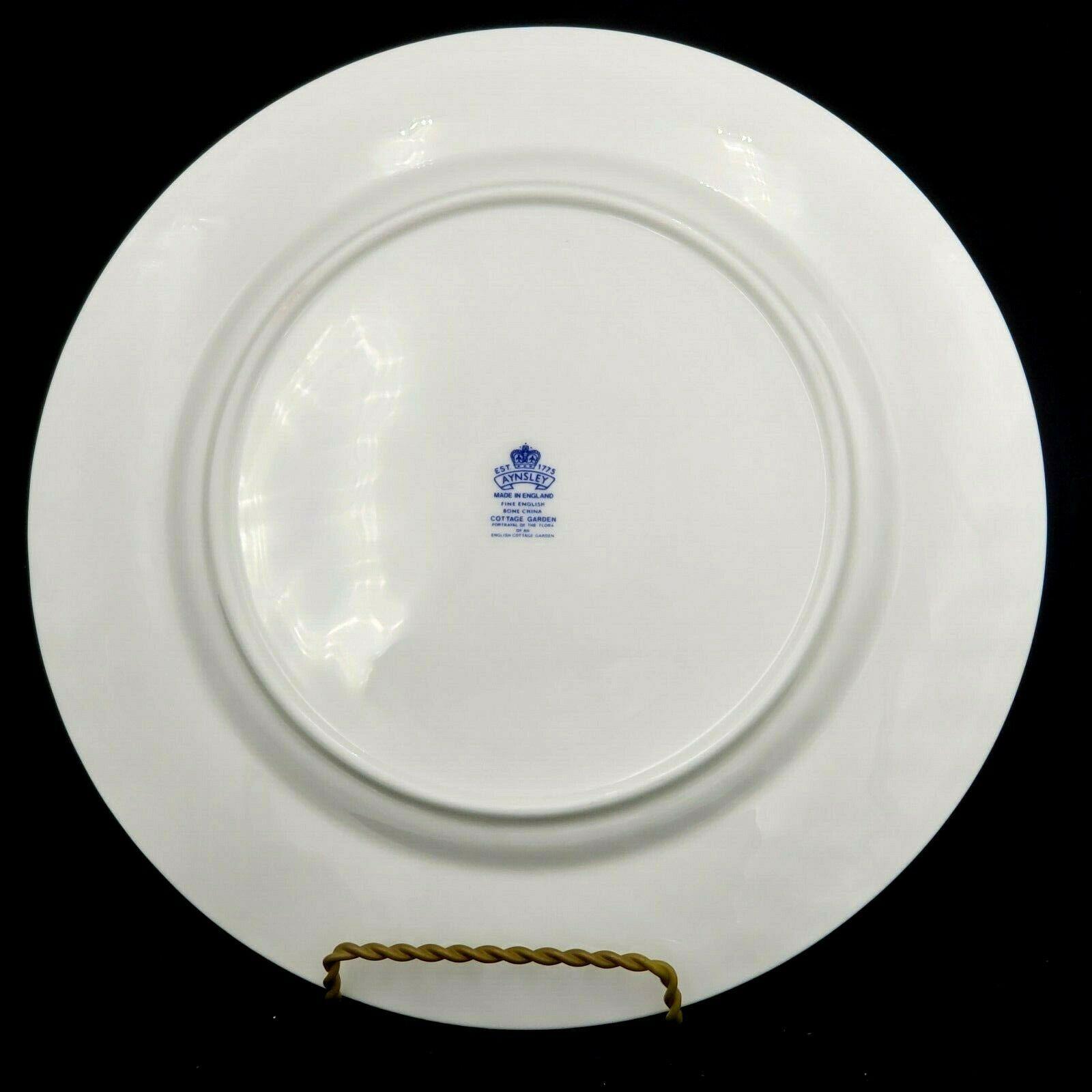 Aynsley Dinner Plate  COTTAGE GARDEN Fine Bone China England Set of 2