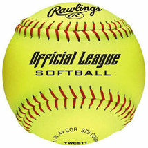 Rawlings 11-Inch Yellow Official League Softball 6-Pack - $28.04