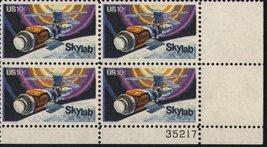 1974 10c Skylab Plate Block of 4 US Postage Stamps Catalog Number 1529 MNH