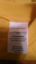 Boys wonder kids yellow sleeveless top sz 12m sec283 - $9.90