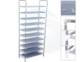 10 Tiers 30 Pair Shoe Rack Shelf Closet Holder Storage Organizer Stand - $35.63