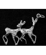 NICE Family Deer Love bond Sterling Silver 925 Pendant Charm - $15.42