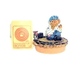"Boyds Candle Topper ""Casey..Next stop Boydsville"" Fits yankee candle~#65... - $29.99"