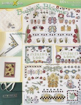 Bugs & Blooms Sampler, StitchWorld X-Stitch Cross Stitch Pattern Booklet... - $5.95