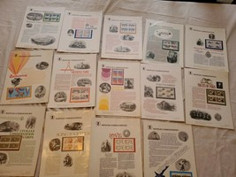 Lot of 14 assorted Stamps USPS American Commemorative Panels 1979-1988, ... - $69.99
