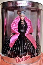1998 Mattel Special Edition Happy Holidays Barbie Doll in Black Gown w/ ... - $24.48