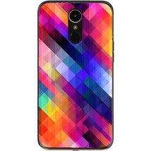 Stripes obliquely multicolored LG K10 2017 Phone Case - $15.99