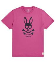 Men's Psycho Bunny Short Sleeve Jasper Graphic Tee Logo Print Magenta T-Shirt