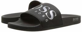 Hugo Boss Men's Graphic Rubber Slip On Beach Pool Solar Slides Sandals 50388496 image 2