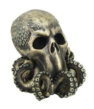 Cthulhu Skull Collectible Figurine Antique Bronze Finish 6 Inch Tall - $32.66