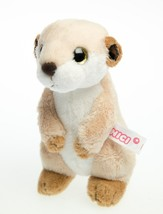 NICI Meerkat Brown Stuffed Animal Plush Toy Dangling 6 inches 15 cm - $19.00