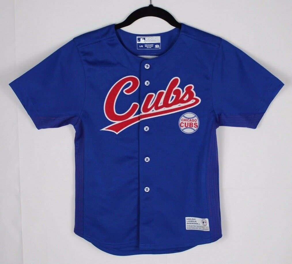 Primary image for Chicago Cubs Soriano Baseball Jersey TF true fan sew youth kids blue size L/G