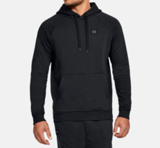 Under Armour Men's Rival Fleece Pullover Hoodie NEW AUTHENTIC Black 1320... - $34.49