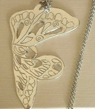 925 STERLING SILVER, BIG BUTTERFLY FINELY WORKED, WITH ROLO CHAIN, MADE IN ITALY image 1