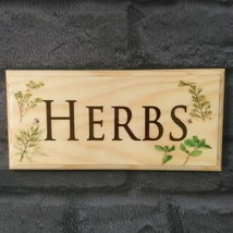 Herbs Sign - Gardening Herb Garden Plaque Grandad Shed House Garden Cent... - $12.35