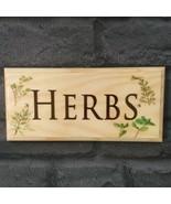 Herbs Sign - Gardening Herb Garden Plaque Grandad Shed House Garden Cent... - $12.35