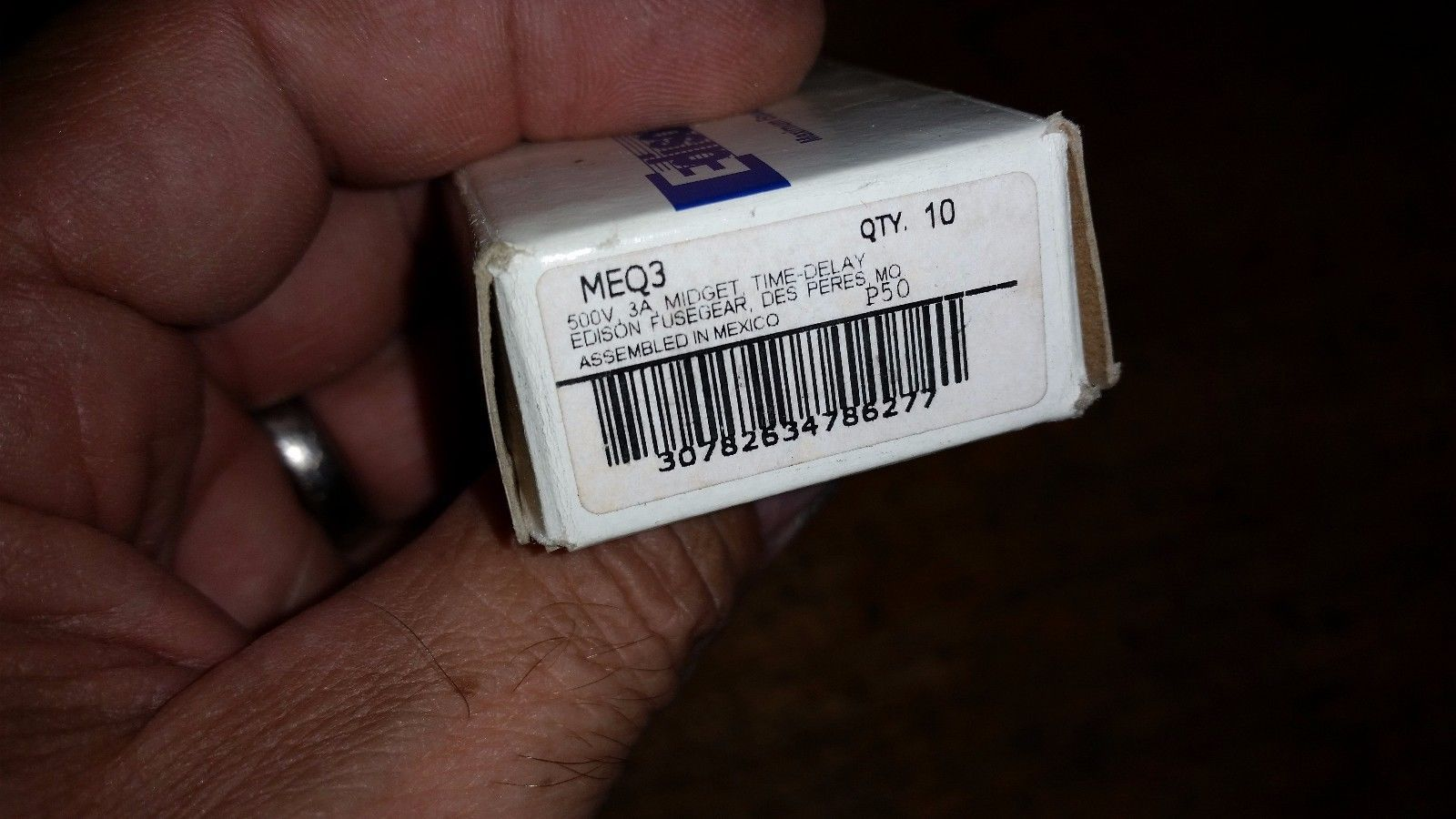 10 PACK EDISON MIDGET TIME DELAY FUSE MEQ3 500 V 3A