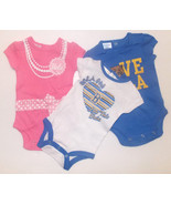 UCLA Bruins INFANT Girls T-Shirt Top PRO EDGE Bodysuit 3 Piece NWT - $12.99