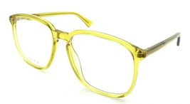 Gucci Eyeglasses Frames GG0250O 006 55-17-145 Yellow Made in Italy - $245.00