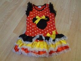 Youth Girls Minnie Mouse XS Dress Outift Costume Polka Dots - $18.69