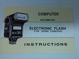 Computer Automatic Electronic Flash For 35mm Cameras Instructions - $9.69