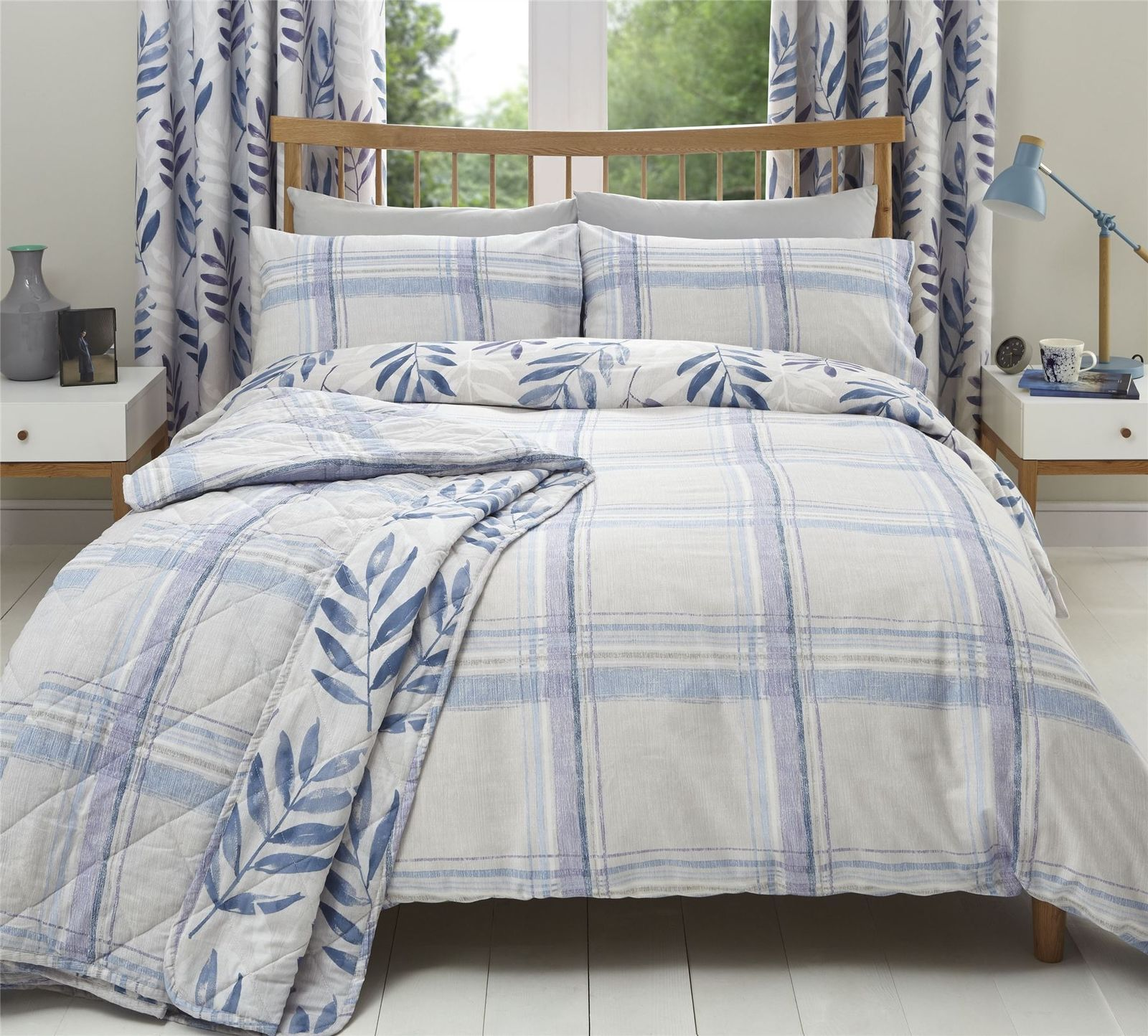 Plaid Anti Poil De Chat brush stroke-style check leaf lilac cotton and 50 similar items
