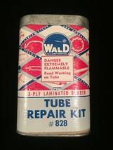 Vintage Wald tube repair kit #828 tin packaging image 5