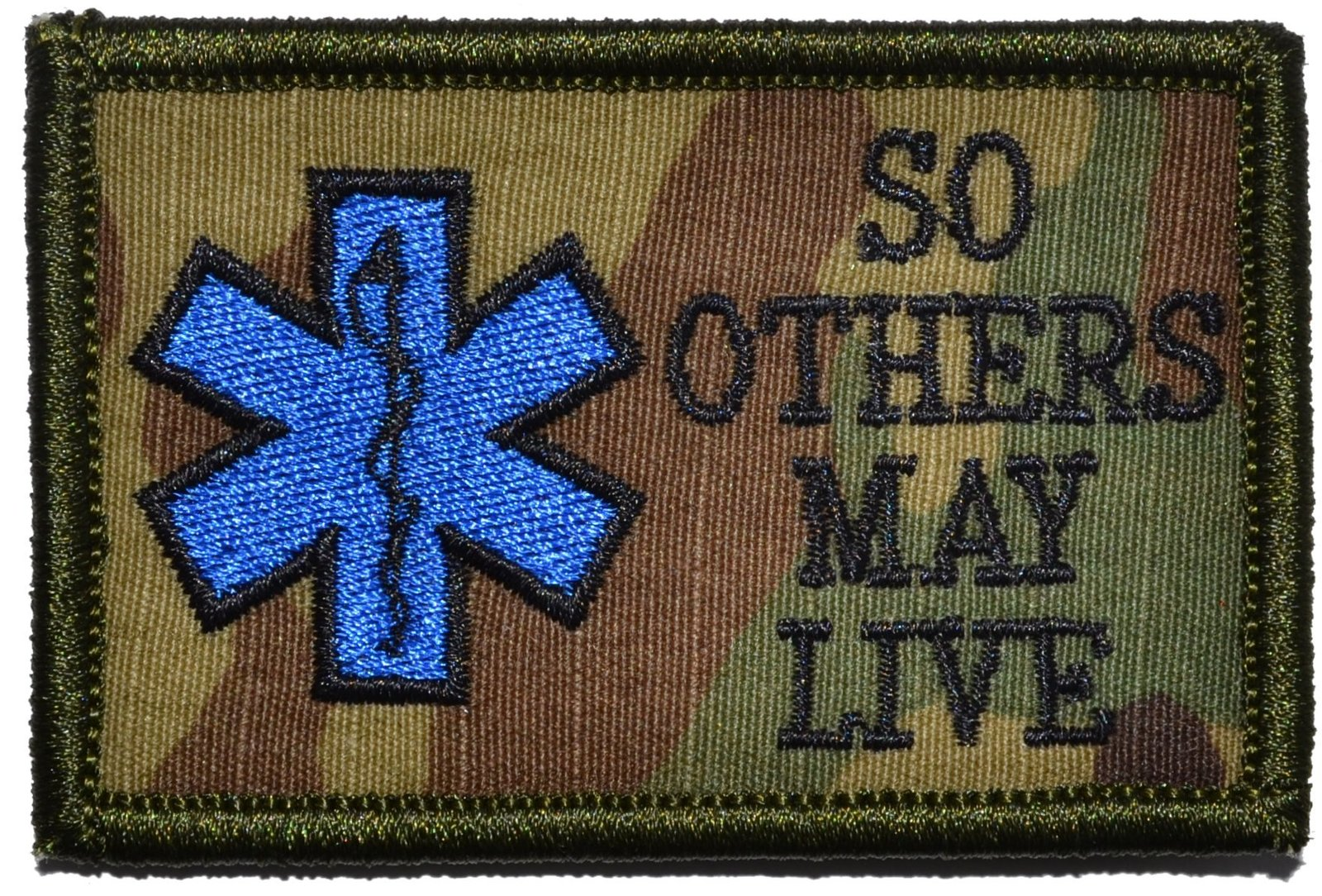 EMS So Others May Live - Star of Life 2x3 Military Patch / Morale Patch - Mul...